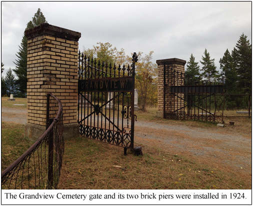 gathered at the historic gates of Grandview Cemetery with the Boundary ...